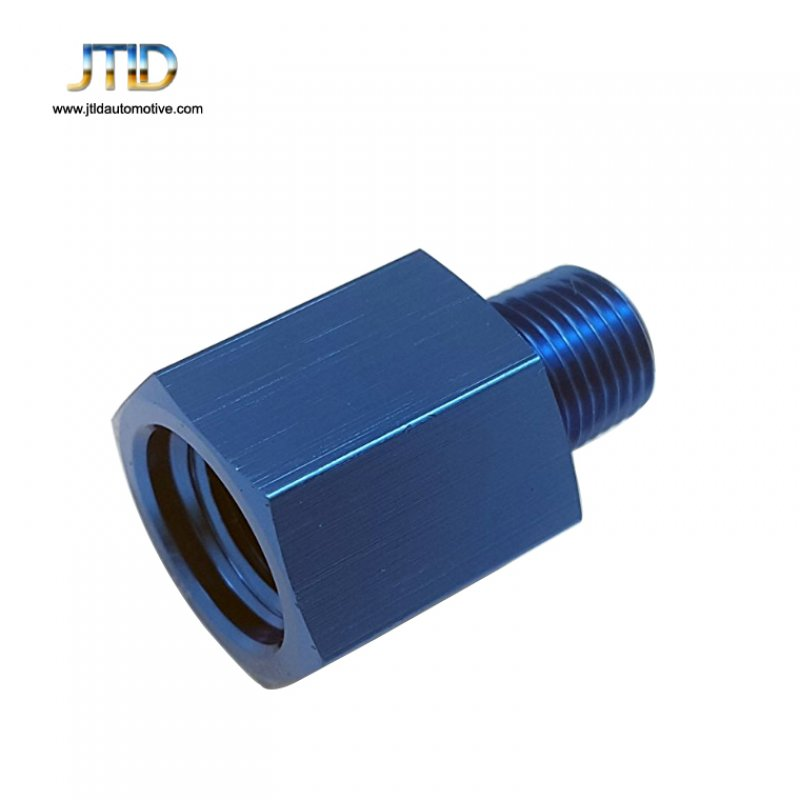 1/8 NPT Male to M12x1.5 Female Hose End Port Conversion Fittings Alloy adapter